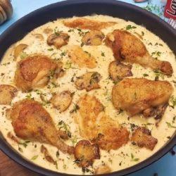 Жульен классический рецепт с курицей и грибами
