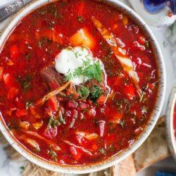Борщ украинский рецепт классический с мясом говядины