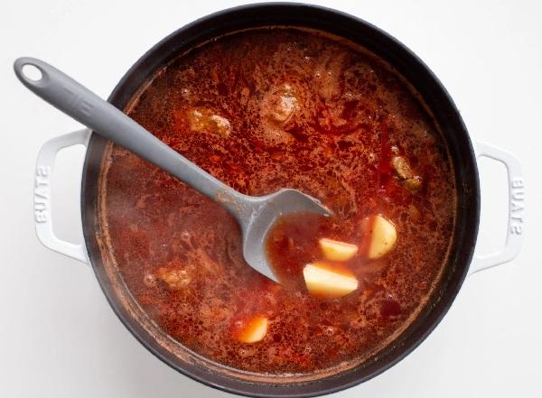 Борщ рецепт классический с мясом говядины красный