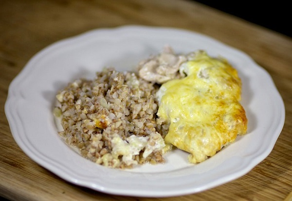 Курица с гречкой в духовке рецепт