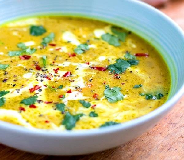 Чесночный суп на курином бульоне для здоровья