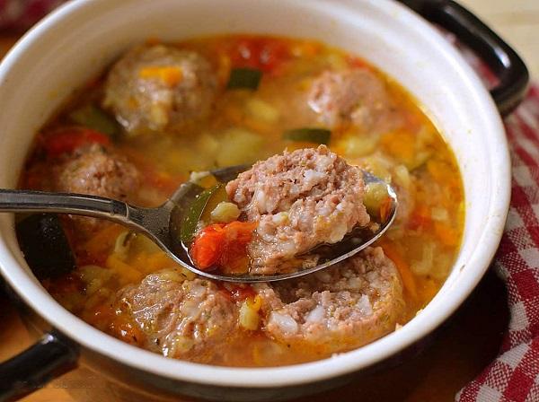 Суп с фрикадельками самый вкусный фото