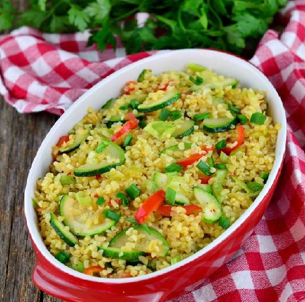 Рецепт приготовления булгура с овощами на сковороде